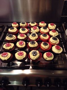 Casino poker chip cupcakes :)
