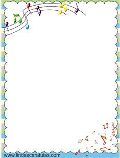 Resultado de imagen para hojas pautadas y notas musicales notas Printable Border, Printable Recipe Cards, Borders For Paper, Borders And Frames, Music Border, Music Clipart, Page Borders Design, Butterfly Clip Art, Bullet Journal 2019