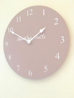 ** Also available with square edge baton hands, if you require this please add a note to your order or message me....thank you! ** ** The clock has a very quiet tick, if you prefer a silent clock just add a note to your order ** This is a beautiful quality handmade wooden wall clock. Made from