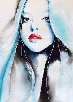 Amanda Seyfried Art Print of Original by Kimberly Godfrey