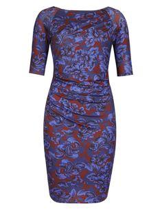 Best of British Modal Rich Floral Drape Dress   M&S