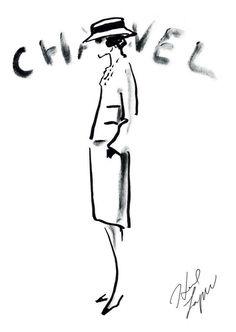 Dibujo original de Karl Lagerfeld.