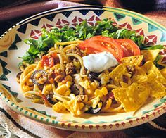 In the mood for Mexican tonight? This combination of pasta, salsa, ground beef, and cheese captures south-of-the-border flavors.
