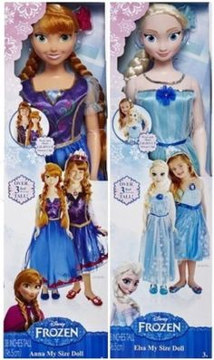 Disney Frozen My Size Elsa and Anna Set of Dolls...  Anna And Elsa Disney Frozen My Size Dolls 3ft Limited Edition #Disney