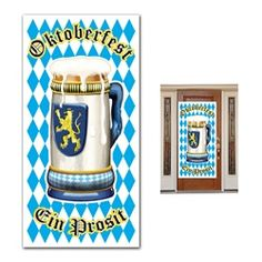 Oktoberfest Door Cover Welcome your friends and family to your Oktoberfest theme party with this stunning Oktoberfest Door Cover.