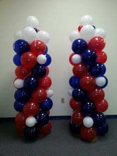 4th of July Balloon Columns