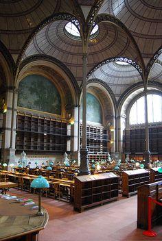 Bibliothèque nationale de France - site Richelieu. Salle Labrouste (Journées européennes du Patrimoine 2009)