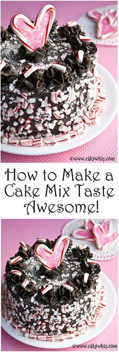 How to make a boxed cake mix taste AWESOME! There are also many flavor variations. This has got to be the softest and moistest cake I have ever made! From cakewhiz.com
