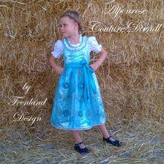 """Couture Dirndl """"Eisprinzessin"""" II. von krabbelkee collection by Feenland auf DaWanda.com"""