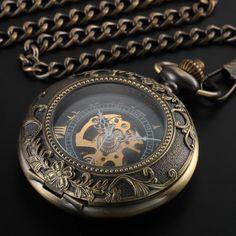 Steampunk Chain Pocket Watch - The Black Pearl
