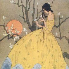 Spring's Promise by Marjorie Miller, 1920 art deco is my love Art And Illustration, Vintage Illustrations, Inspiration Art, Art Inspo, Fantasy Kunst, Fantasy Art, Arte Art Deco, Ouvrages D'art, Fine Art
