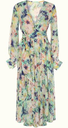 Long Sleeve Floal Maxi Dress
