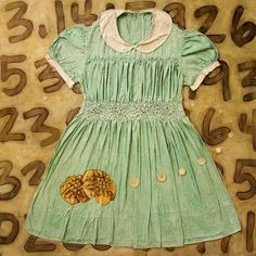 "Kathrine Allen-Coleman's dress painting - ""smart cookie"" - so fun and clever (the numbers in the back are pi)"