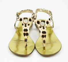 Roberto Cavalli Leopard Print Sandal- reminds me of Lena :)
