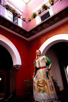 "The colorful dress of ""china poblana"" has its origins in Puebla. Today is considered the national costume and a stereotype of being Mexican. In the house where Catalina de San Juan died, the original china poblana, there is a figure in his honor."