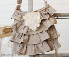 Tan Ruffle Bag-This shop has gorgeous things!!