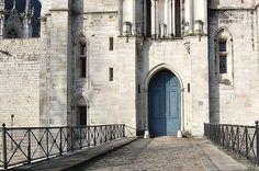 steel blue castle doors. ...-1