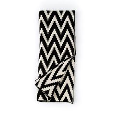 Shiraleah Black and White Mercer Throw Blanket Aztec Blanket, Chevron Blanket, Cotton Throws, Knitted Throws, Contemporary Blankets, White Throws, Home Decor Sale, Faux Fur Throw, Cotton Bedding
