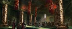 Iron Throne Room / Red Keep / King's Landing. - art: Lincoln Renall for GOT Ascent.
