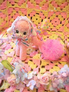 『Babychii』 羊毛 ポンポン 羊ちゃん チャーム(ベビーピンク)