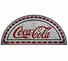 Meyda Tiffany 125522 Coca-Cola Tabernacle Stained Glass Window, Width x Height Stained Glass Lamp Shades, Stained Glass Panels, World Of Coca Cola, Coke, Tiffany, Bathroom, Vintage, Decor, Stained Glass Windows