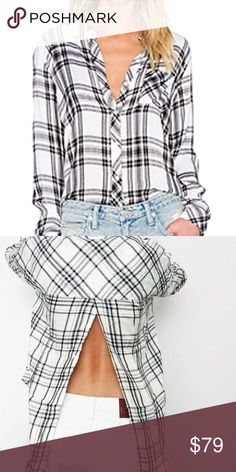 The Laundry Room plaid button down. Great plaid button down with slit back.   No trades. Reasonable offers welcome Note: 20% off bundles of 2+ items in my closet! The Laundry Room Tops Button Down Shirts