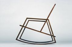 The concept behind this ultra minimalist rocking chair was to embody the look and feel of relaxation. When I relax I personally feel a little more amorphous or at least less rigid. That aside the design by Purpose Inc. is really beautiful and the profile view almost resembles the floor plan of an oddly shaped building.