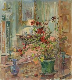 Susan Ryder, RP NEAC (English) 'The Red Geranium'