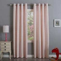 - Cotton twill curtains offer a casual look to your home. - Thick, durable, and finished with a velvet-like feel. - Set contains 2 Panels.- 8 Stainless Steel Nickel Grommets per panel Grommet Curtains, Casual Looks, Velvet, Stainless Steel, Mood, Pink, Cotton, Home Decor, Decoration Home