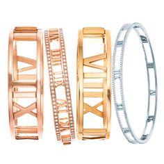 Mixed Metals | Tiffany & Co. Atlas Hinged Bangles | Tiffany Jewelry - Metal Jewelry - Harper's BAZAAR