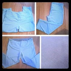 Blue and Gray Athletic Pants Great pattern!!!!!! Never worn. Very very soft and stretchy!! Pants Track Pants & Joggers