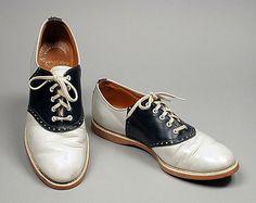 "saddles shoes 1940s ""classic"" - every high school girl had a pair (so I've heard)"