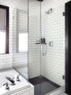 Timeless Black and White Master Bathroom Makeover : Page 02 : Rooms : Home & Garden Television