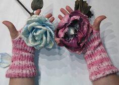 guanti senza dita guanti di colore rosa morbidissimi guanti