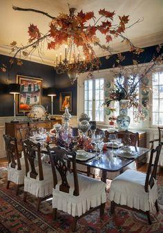 Si prefieres una cena de Halloween en lugar de una fiesta crea el ambiente idea. @Latorredecora
