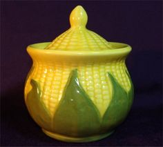 1946 SHAWNEE Pottery King CORN Sugar Bowl with Lid You can Buy this in my Etsy store by GypsySeller