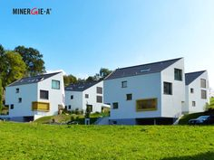 Einfamilienhaus Wettingen; Aeschstrasse; Minergie-A; Photovoltaik; Bachrenaturierung; Architektur Solar, Recreational Vehicles, Shed, Outdoor Structures, Detached House, Architecture, Camper Van, Campers, Rv Camping