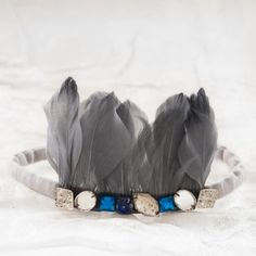 feather and jewel headband for babies - what! yes please