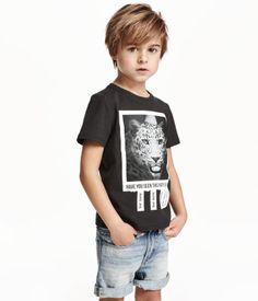 T-Shirt mit Druck | Schwarz | Kids | H&M DE