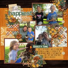 Gather Kit, Gather Templates , Gather Extra Papers, Gather Inked Bits, and Gather Word Arts by Designs by Connie Prince
