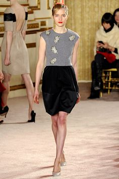 thakoon fall 2012 >> look at the back of the dress walking away!!