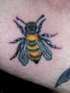 Bee Tattoos And Meanings-Bee Tattoo Designs And Ideas-Bee Tattoo ...