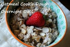 Oatmeal Cookie Dough Overnight Oats. New Fave Breakfast.