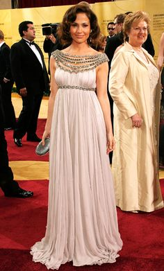 The Most Breathtaking Oscars Gowns - Jennifer Lopez, 2007 from #InStyle