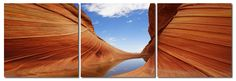Desert Sandstone Mounted Photography Print Triptych