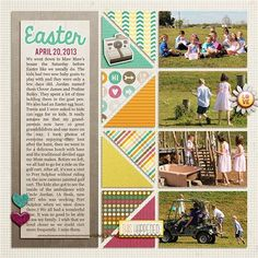 Easter 2013 by Heather Landry, as seen in the Club CK Idea Galleries. #scrapbook #scrapbooking #creatingkeepsakes