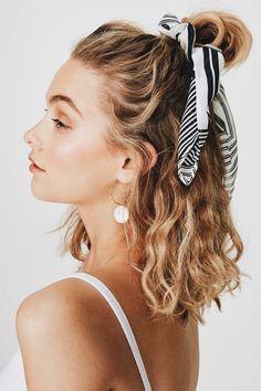 Hair styles wavy hair beauty super Ideas - Hair Ideas - Famous Last Words Hair Day, New Hair, Your Hair, Game Day Hair, Men's Hair, Pretty Hairstyles, Easy Hairstyles, Scarf Hairstyles Short, Scrunchy Hairstyles