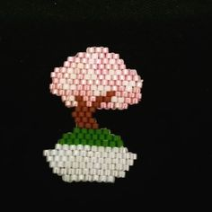#miyuki #minik #bonzai #ağacı #broş #minyatür #tatlış #çiçek #flower #pembe #pink #jewelry #design #takı #tasarım