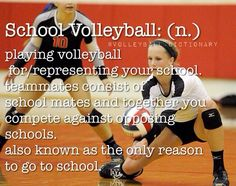 aka. the only reason I go to school/ volleyball inspiration