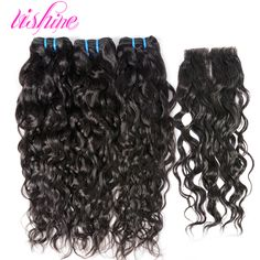 Indian Virgin Hair With Closure Wet and Wavy Water Wave Virgin Hair with Lace Closure Human Hair Weft with Closure Raw Curly http://jadeshair.com/indian-virgin-hair-with-closure-wet-and-wavy-water-wave-virgin-hair-with-lace-closure-human-hair-weft-with-closure-raw-curly/ #HairWeftClosure(Bang)